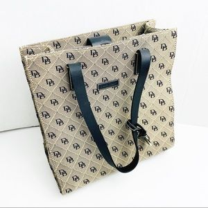 Dooney & Bourke Tan And Black Tall Bag